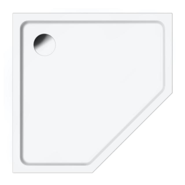 Repabad Valencia pentagonal shower tray white
