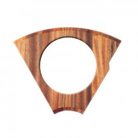 Rieber chopping board 1/6 mahogany with  cut-out for waste container