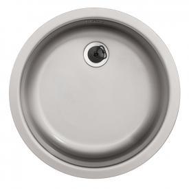 Rieber E 39 round kitchen sink matt stainless steel