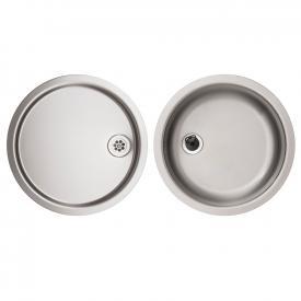 Rieber E 39 Set round kitchen sink matt stainless steel