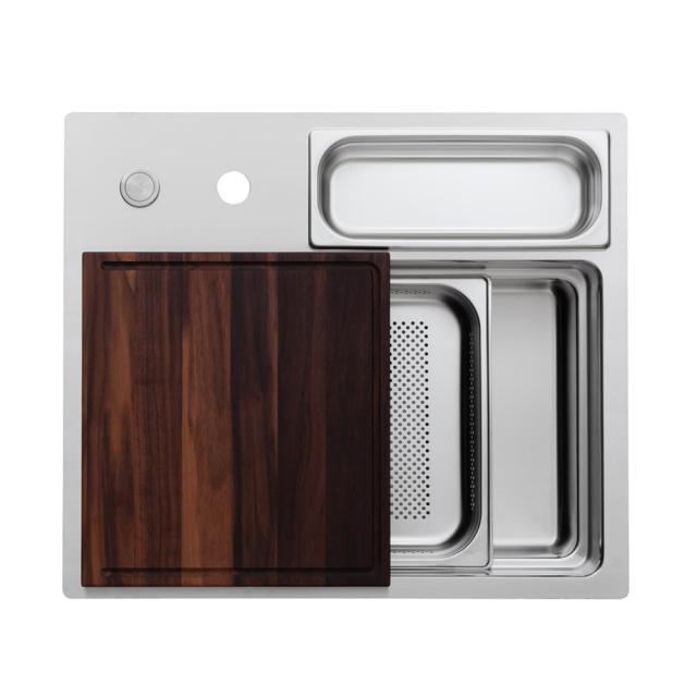 Rieber waterstation cubic 600 flat-rimmed kitchen sink