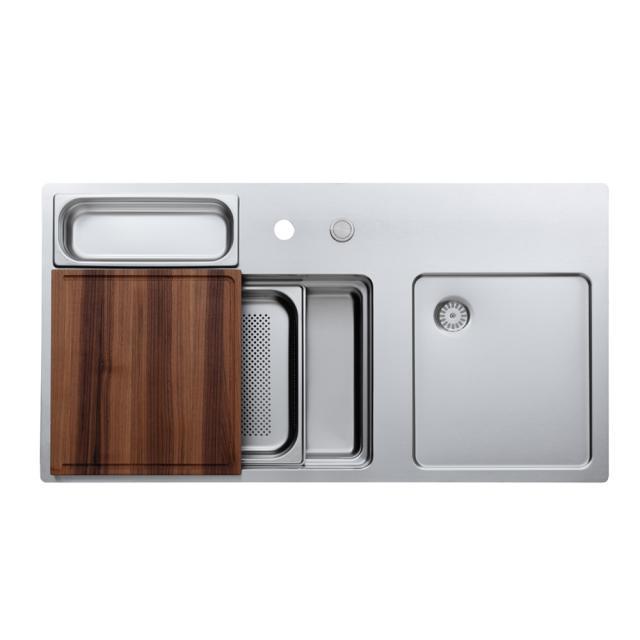 Rieber waterstation cubic 980 flat-rimmed kitchen sink