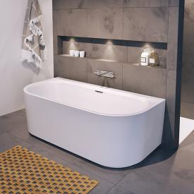 Riho Desire back2wall bath with panelling white, without filling function