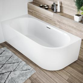 Riho Desire Corner compact bath with panelling white, with filling function