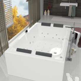 Riho Laura rectangular Thermae whirlpool with colour light therapy & touch + heating