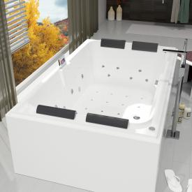 Riho Laura rectangular Thermae whirlpool with colour light therapy, with overflow combination