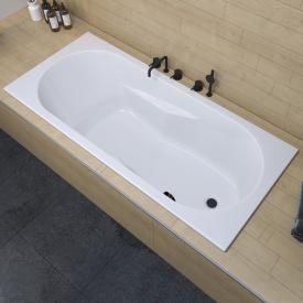 Riho Lazy rectangular bath with side overflow