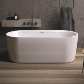 Riho Modesty freestanding oval bath white, with filling function