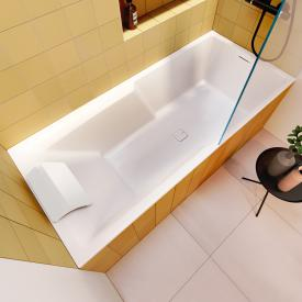 Riho Still Shower rectangular bath with LED lighting with filling function