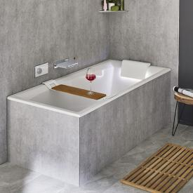 Riho Still Square rectangular bath with LED lighting and headrest without filling function, headrest right