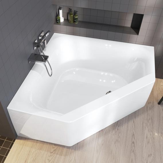 Riho Austin corner bath with panelling