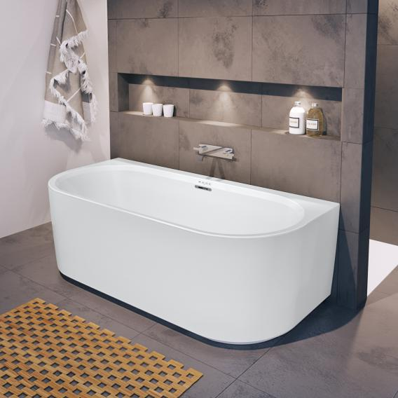 Riho Desire back2wall back-to-wall whirlbath with panelling matt white, without filling function