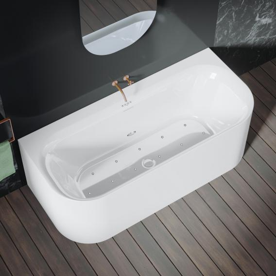 Riho Devotion back2wall back-to-wall whirlbath with panelling white, without filling function