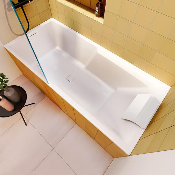 Riho Still Shower rectangular bath with shower zone and LED lighting with filling function