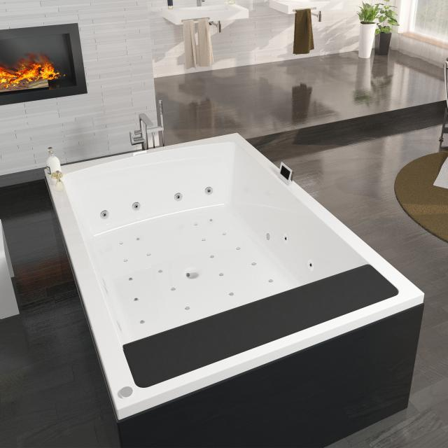 Riho Anna rectangular whirlpool right version with colour light therapy & touch + heating