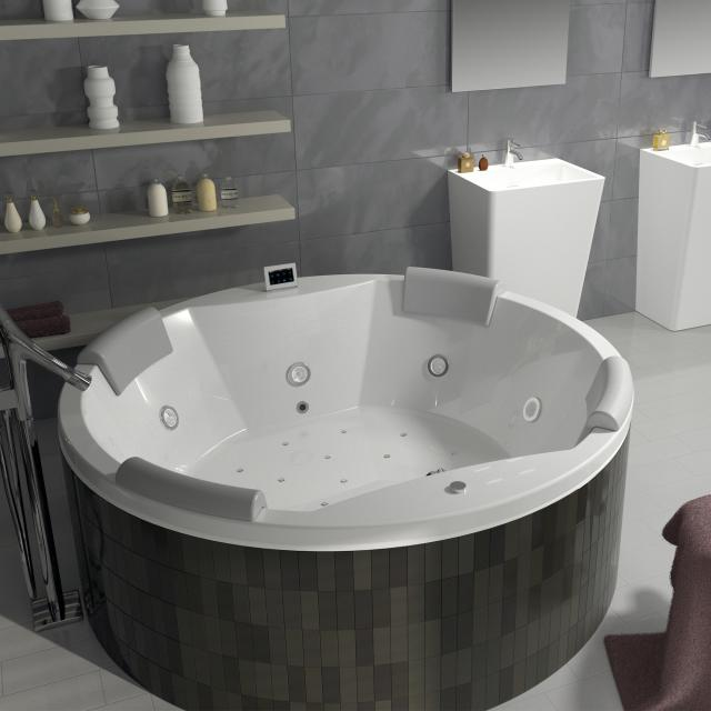 Riho Carmen round Thermae whirlpool with colour light therapy & touch + heating