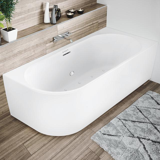 Riho Desire Corner whirlbath with panelling matt white, without filling function