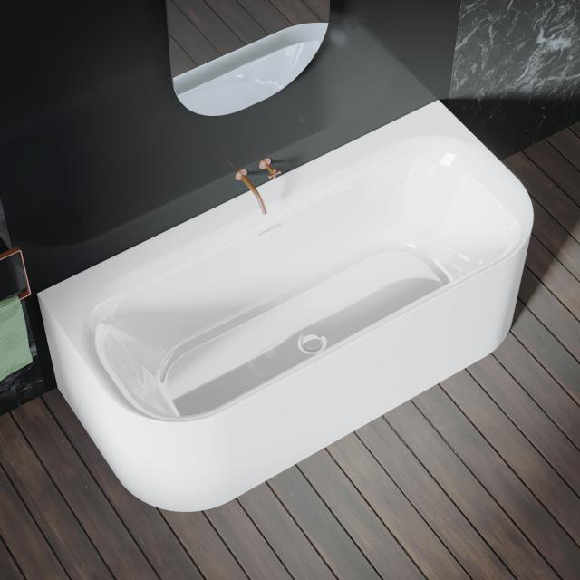 Riho Devotion back2wall back-to-wall bath with panelling white, without filling function