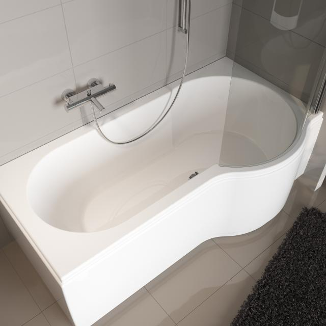 Riho Dorado rectangular bath with shower zone, built-in