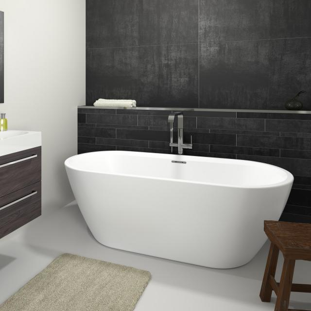 Riho Inspire freestanding oval bath white, without filling function
