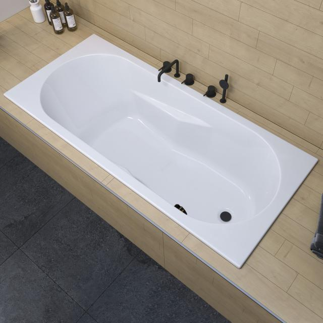 Riho Lazy rectangular bath with side overflow, built-in