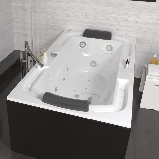 Riho Lisette Thermae rectangular whirlbath, built-in with colour light therapy & Touch + Heating