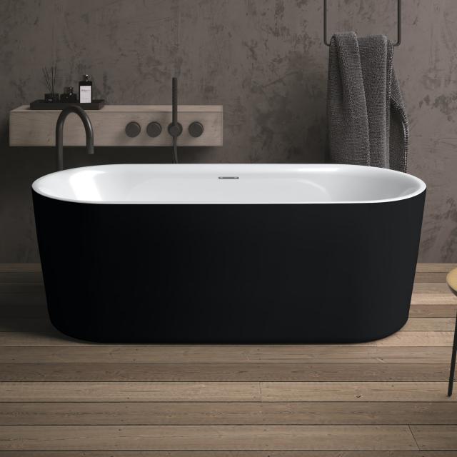 Riho Modesty freestanding oval bath white/matt black, without filling function