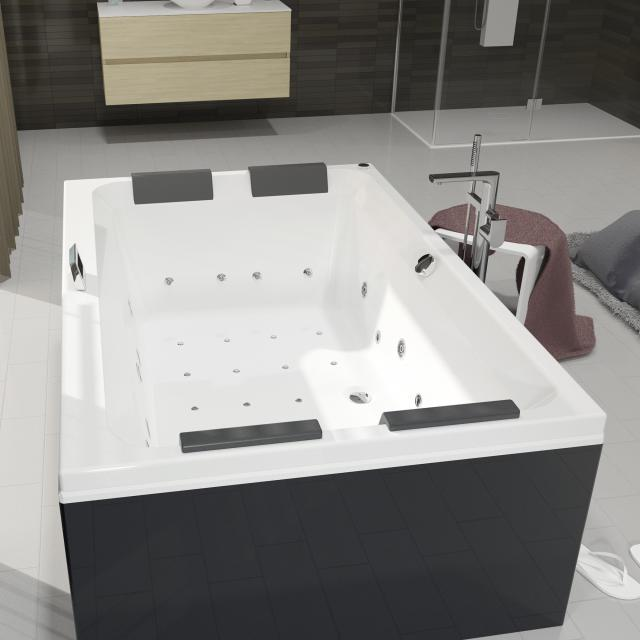 Riho Olivia Thermae rectangular whirlbath, built-in with colour light therapy & Touch + Heating