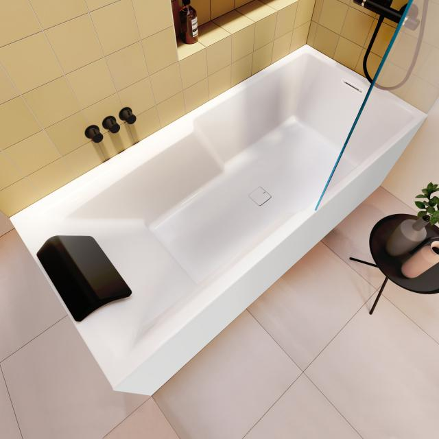 Riho Still Shower rectangular bath with shower zone and panelling without filling function