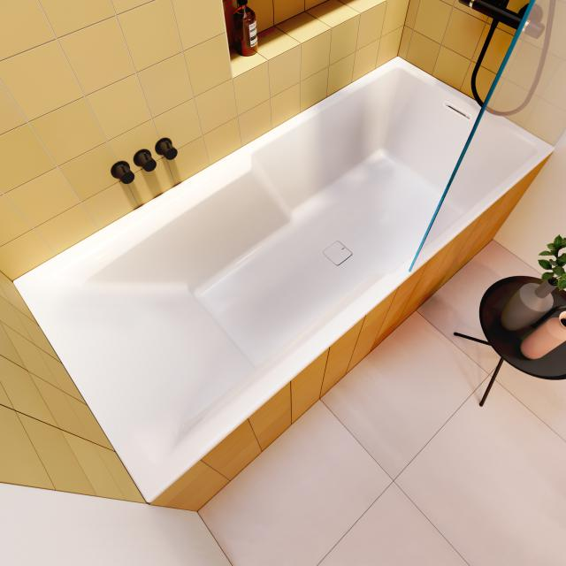 Riho Still Shower rectangular bath with shower zone, built-in without filling function