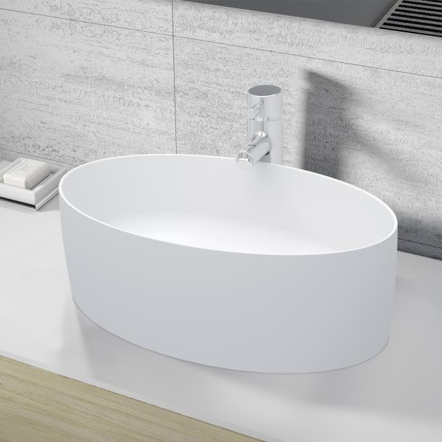 Riho Thin oval countertop washbasin