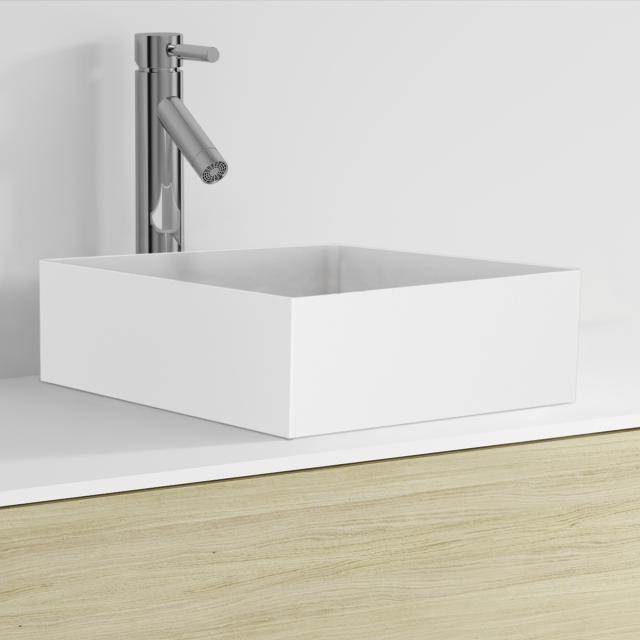 Riho Thin square countertop washbasin