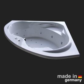 Reuter Kollektion Komfort Baignoire balnéo d'angle avec système balnéo Premium avec garniture de vidage et de trop-plein et entrée d'eau
