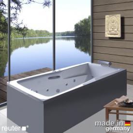 Reuter Kollektion Relax Baignoire balnéo à angle droit avec système balnéo Premium avec garniture de vidage et de trop-plein