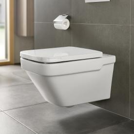 Roca Dama wall-mounted washdown toilet with toilet seat