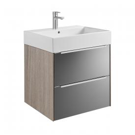 Roca Inspira vanity unit with washbasin with 2 pull-out compartments front anthracite/mirrored / corpus city oak