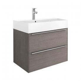 Roca Inspira vanity unit with washbasin with 2 pull-out compartments front city oak / corpus city oak