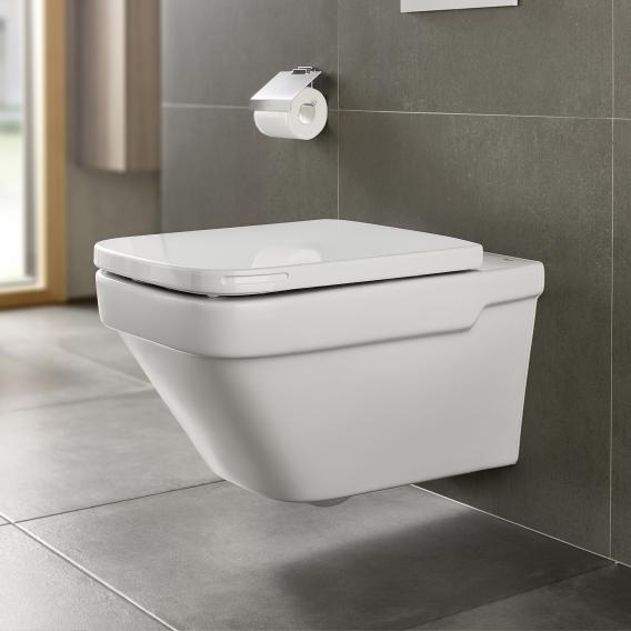 Roca Dama wall-mounted washdown toilet with toilet seat