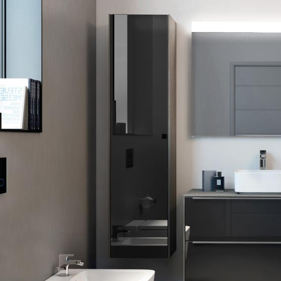 Roca Inspira LED tall unit with 1 door front anthracite/mirrored / corpus city oak