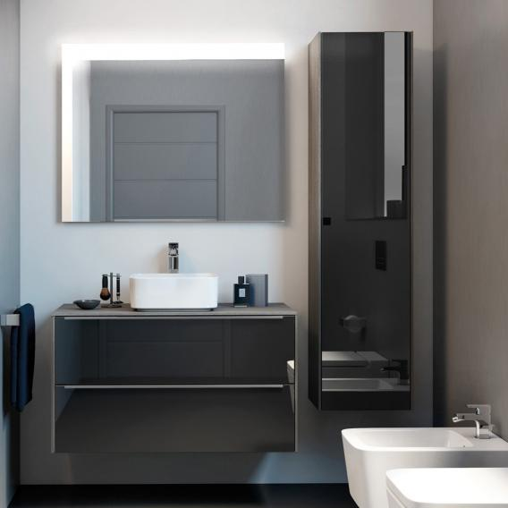 Roca Inspira vanity unit for countertop washbasin with 2 pull-out compartments front anthracite/mirrored / corpus city oak