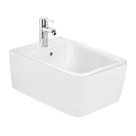 Roca Inspira wall-mounted bidet, square white, with MaxiClean