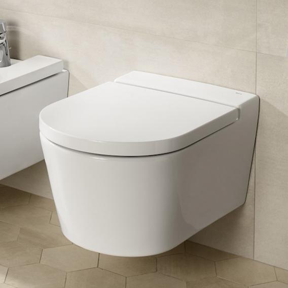 Roca Inspira wall-mounted, washdown toilet, round white, with MaxiClean