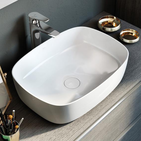 Roca Inspira washbowl, soft white, with MaxiClean