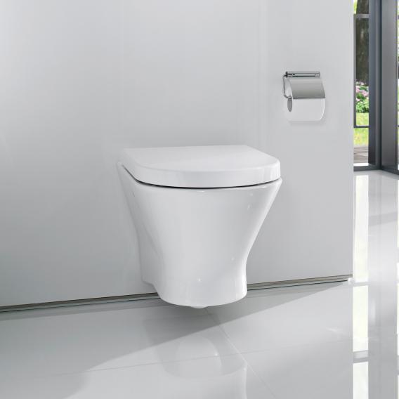Roca Nexo wall-mounted washdown rimless toilet with toilet seat