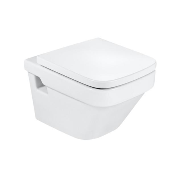 Roca Dama wall-mounted washdown toilet with toilet seat compact