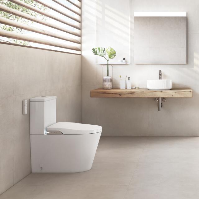 Roca Inspira In-Wash floorstanding shower toilet combination, complete set with toilet seat