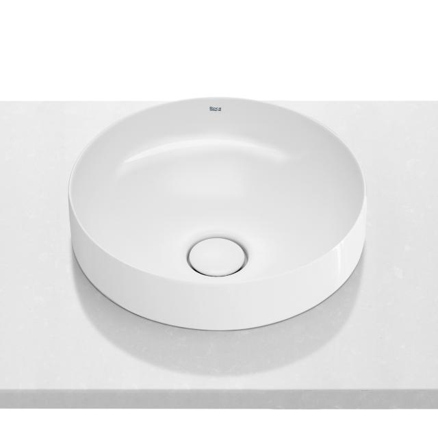 Roca Inspira semi-recessed washbowl, round white