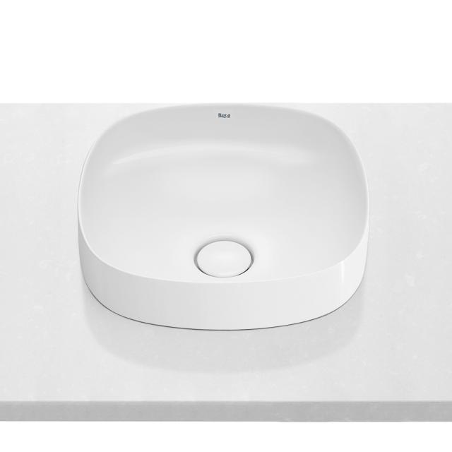 Roca Inspira semi-recessed washbowl, soft white