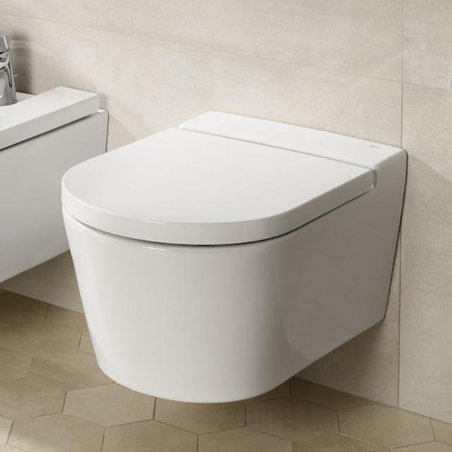 Roca Inspira wall-mounted, washdown toilet, round white