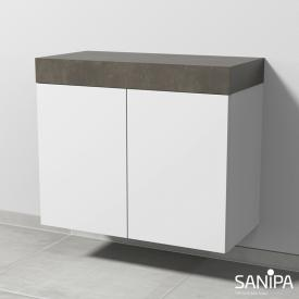 Sanipa 2morrowLight low cabinet for countertop with 2 doors
